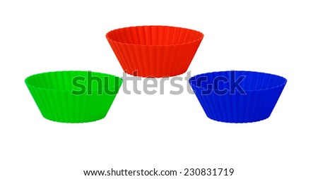 Reusable baking cups liner on a white background