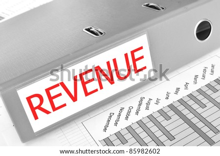 REVENUE folder on a market report