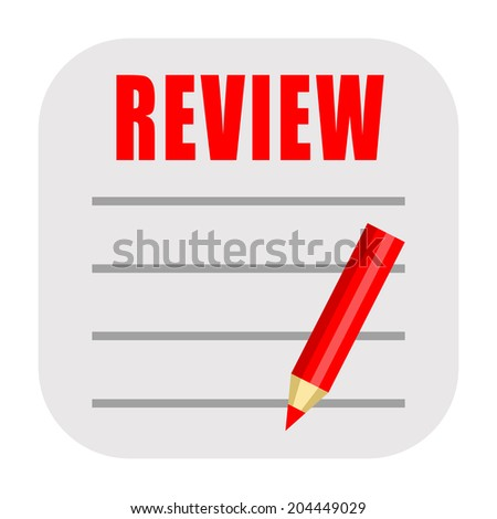 Review icon - stock photo