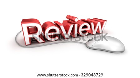 Review text,  3d Concept isolated on white