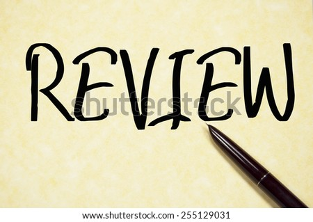 review word write on paper  - stock photo