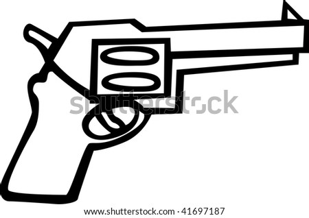 revolver gun - stock photo