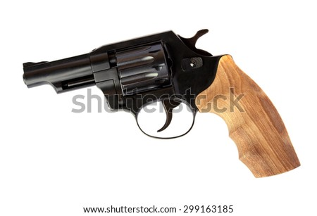 Revolver isolated on white background - stock photo