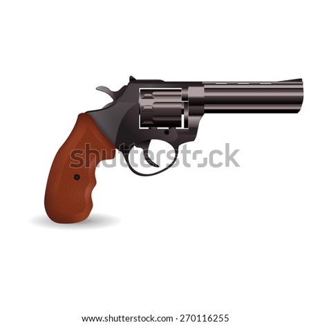 Revolver.  isolated on white background. Raster version
