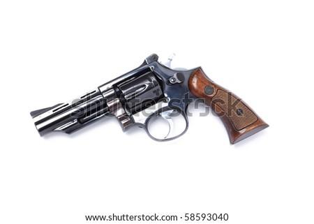 revolver or handgun - stock photo