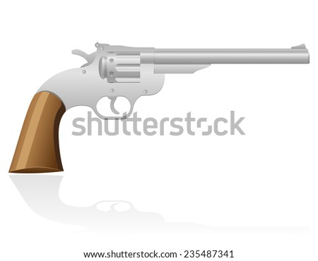 revolver the wild west illustration isolated on white background