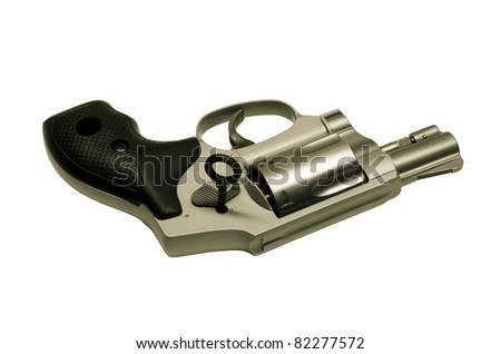 revolver with key to lock action preventing unauthorized use