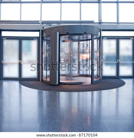 Revolving door in reception of office building & Revolving Door Stock Images Royalty-Free Images \u0026 Vectors ... Pezcame.Com