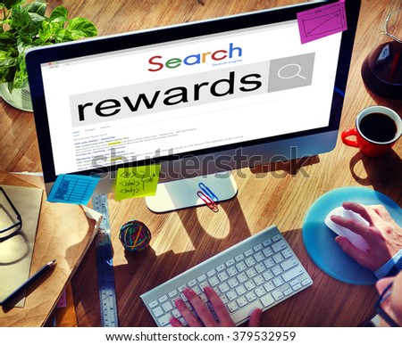 Rewards Benefit Bonus Finance Money Profit Salary Concept - stock photo