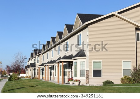 Rexburg, Idaho, USA Oct. 22, 2015 A view of new low income apartments available for lease.