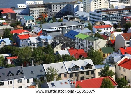 Reykjavik, downtown Iceland. - stock photo