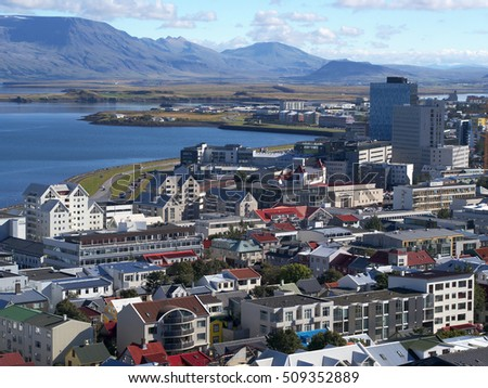 Reykjavik - the capital city of Iceland - view from the tower of Hallgrimskirkja
