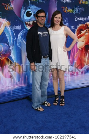 Reza Jarrah and Geena Davis at the World Premiere of 'World Of Color,' Disney's California Adventure, Amaheim, CA. 06-10-10