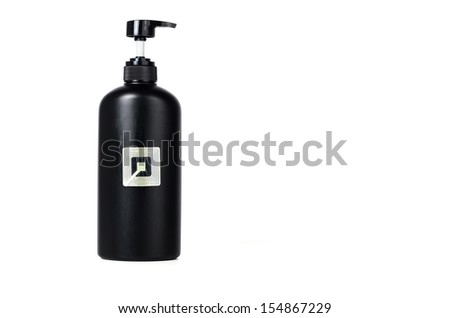 RFId paste on the bottle for protect thief - stock photo