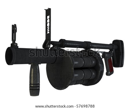 rg-6 grenade launcher - stock photo