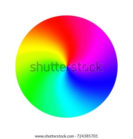 Rgb Color Wheel Round Classic Palette 724385701