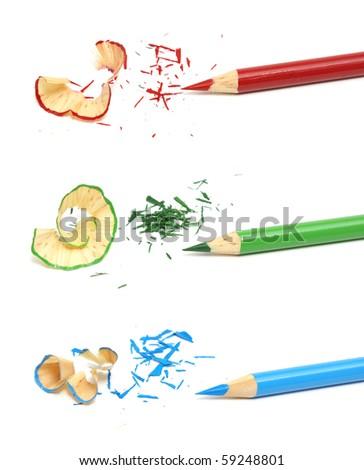 RGB Pencil Crayons - stock photo