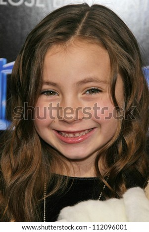 "Rhiannon Leigh Wryn at the Los Angeles Premiere of ""The Last Mimzy"". Mann Village Theatre, Westwood, CA. 03-30-07 - stock photo"