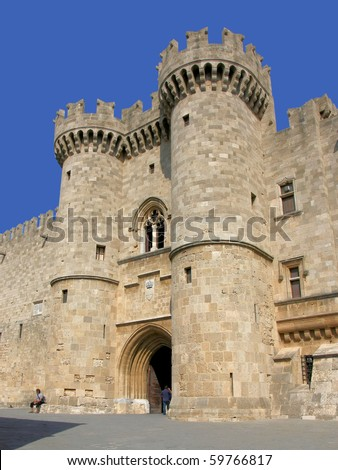 Rhodes, the palace of the knights - stock photo