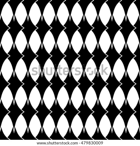 Rhombus geometric seamless pattern. Fashion graphic background design. Modern stylish abstract texture. Monochrome template for prints, textiles, wrapping, wallpaper, website etc. illustration