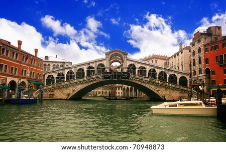 Rialto bridge - stock photo