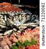 Rialto fish market in Venice - stock photo