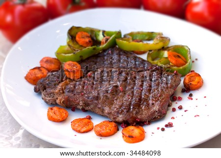 Rib Eye Steak with pepper