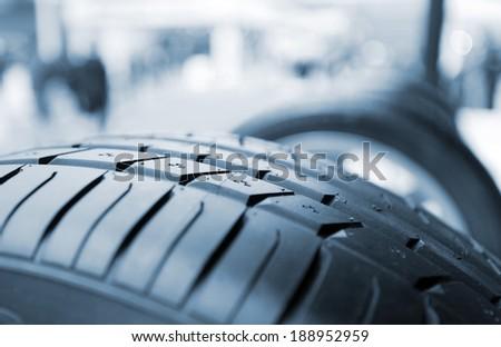 rib tire - stock photo
