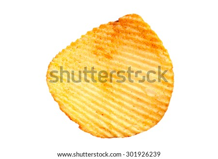 Ribbed potatoes snack with pepper isolated on white - stock photo