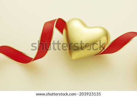 Ribbon And Heart Of Gold
