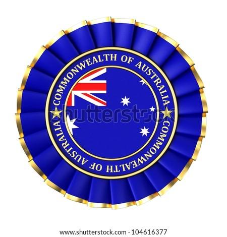 Ribbon Award Symbols Commonwealth Australia Stock Illustration