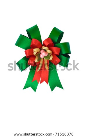 ribbon bow isolated on white background - stock photo