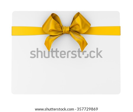 ribbon bow on white background 3d render - stock photo