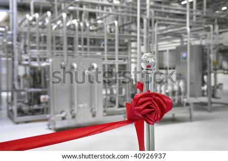Ribbon cutting ceremony. - stock photo