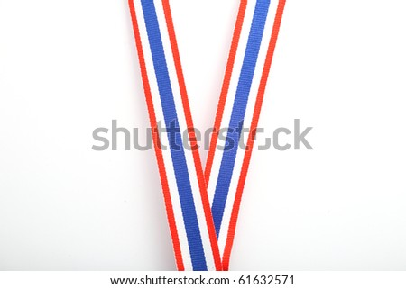 Ribbon for medal, isolated on white.
