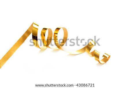 Ribbon isolated on white - stock photo