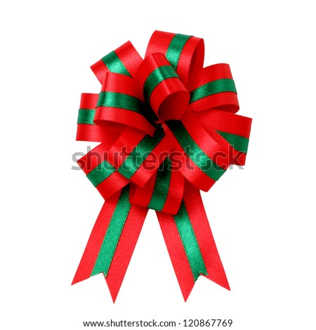 Ribbon isolated on white background - stock photo