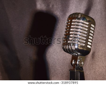 Ribbon Microphone with shadow