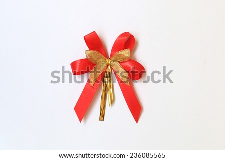 ribbon on white background