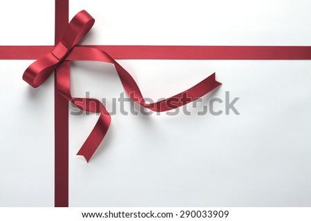 Ribbon present background - stock photo
