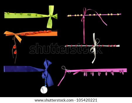 Ribbon Ribbons Frame Photo Picture - stock photo