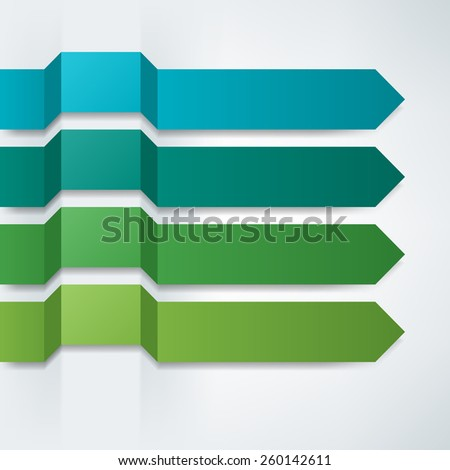 Ribbons and arrows - stock photo