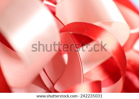 ribbons on the red