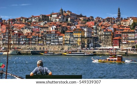 Ribeira view in Porto, Portugal