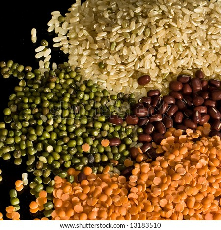 Rice and Beans - stock photo