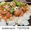 Rice and pork japanese style - stock photo