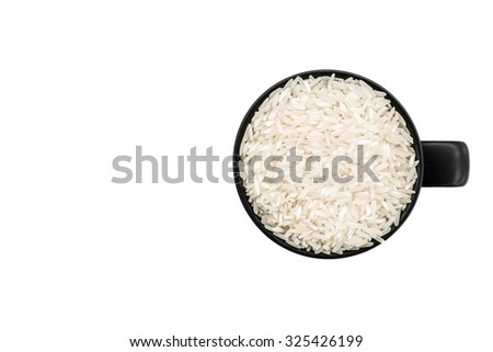 rice and space - stock photo