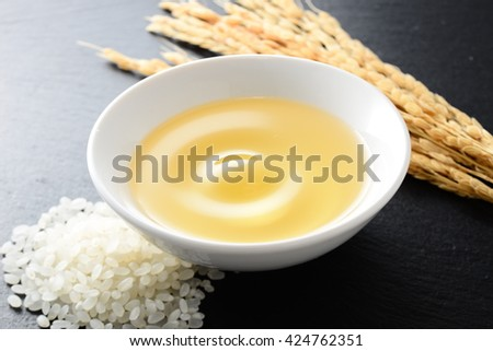 rice bran oil - stock photo