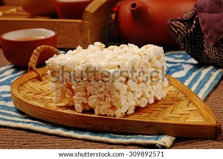 Rice cake - A Popular Taiwan food                - stock photo