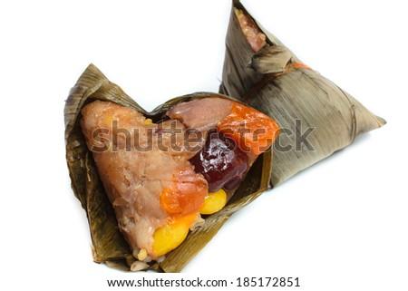 rice dumpling, zongzi or bakcang, duanwu festival. - stock photo
